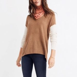 Madewell Kimball Pullover Colorblock Sweater S